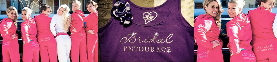 Bride and Bridal Party Bling Shirts